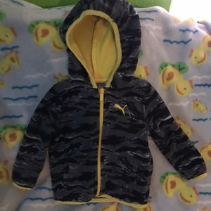 Really cute warm puma size12 months boy sweater for Sale in Hesperia, CA