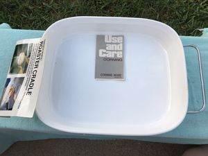 Corningware- White Open Roasting Pan with Handles! **NEW** Read Description** for Sale in West Covina, CA