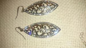 Beautiful silver diamond studded Dangle earrings for Sale in Kent, WA