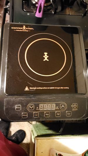 Copper chef electric cooktop and pan for Sale in Palmyra, MO