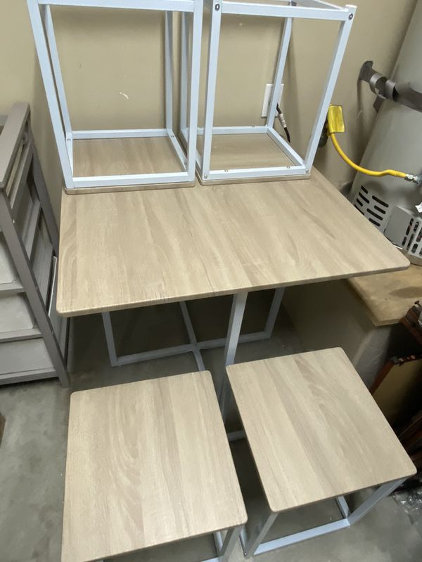 5 Piece Dining Table And Chairs Set Compact Space Bar
