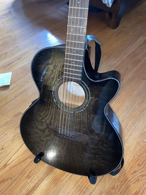 Mitchell MX420 Grand Auditorium Acoustic-Electric Guitar Midnight Black Finish for Sale in Vienna, VA