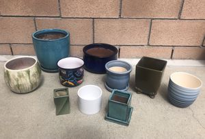 Flower Pots - assorted sizes, great for cacti or succulents 🌵🌸 for Sale in Long Beach, CA