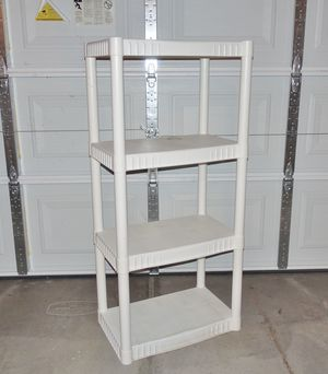 (FREE DELIVERY) used white garage storage shelves (4 feet tall) for Sale in North Las Vegas, NV