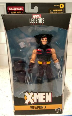 Marvel Legends Age of Apocalypse X-Men Weapon X Collectible Action Figure Toy with Sugarman Build a Figure Piece for Sale in Chicago, IL
