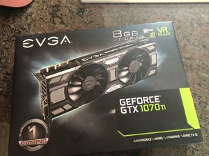 EVGA GeForce GTX 1070ti SuperClocked Black Edition GPUs for Sale in Missoula, MT