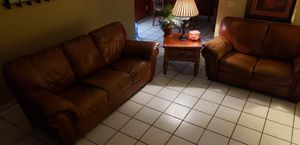 Must go Leather Set and table all 500.00 for Sale in Phoenix, AZ