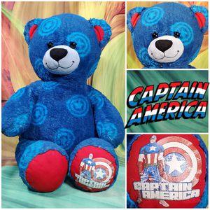 "Build A Bear Marvel Captain America 🇺🇸 Avengers 16"" Blue BABW Plush Teddy for Sale in Dale, TX"
