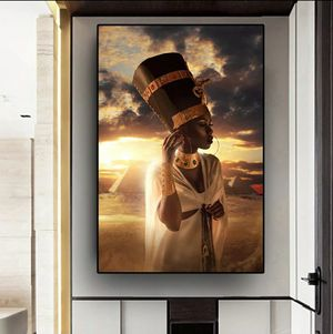 Black and Gold Nude African Art Woman Sunset Oil Painting on Canvas Cuadros Posters and Prints Wall Art Picture for Living Room for Sale in San Jose, CA