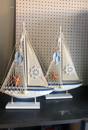 Small sail boats for decoration NEW for Sale in Hialeah, FL