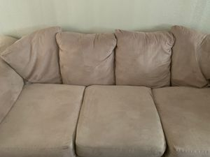 Beige couch with love seat included for Sale in Phoenix, AZ