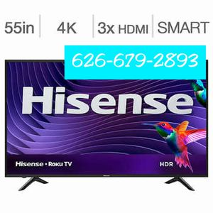 "55"" Hisense Roku HDTV (by Sharp) 🤩 4k HDTV led Smart HDR. oled NO credit_needed_$30 down LG Vizio Hisense sharp we deliver F.R.E.E_😀 samsung for Sale in La Puente, CA"