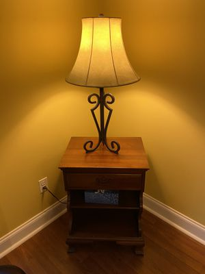 End table and lamp for Sale in Wilmington, DE