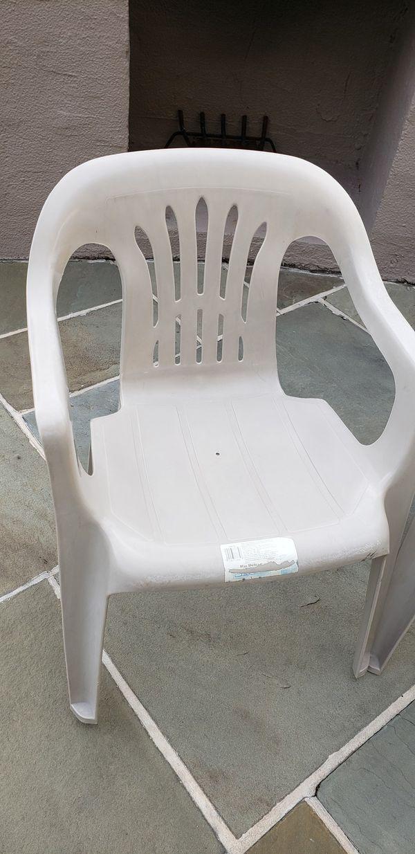 Plastic chairs outdoor/indoor