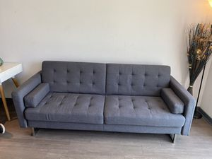 Gray Couch Futon for Sale in Los Angeles, CA