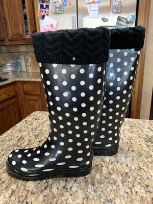 New! Tall rain boots NICE sz 6.5 for Sale in Arlington, TX