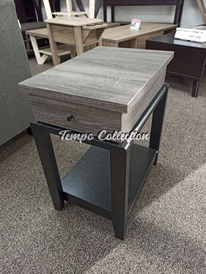 End Table with One Drawer, Distressed Grey, SKU# ID161829TC for Sale in Santa Fe Springs, CA