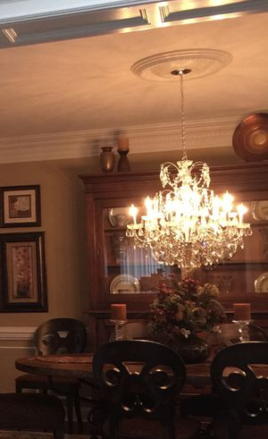 Crystal Chandelier and 2 matching sconces for Sale in Gibsonia, PA