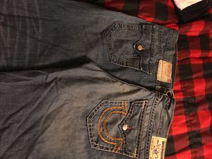 True religion fringe shorts /size 44 for Sale in Charlotte, NC
