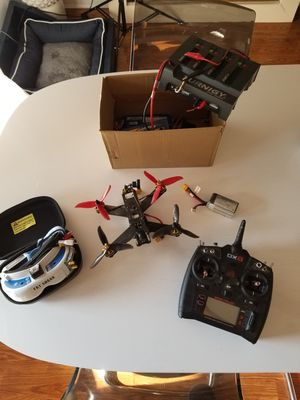 Race Drone Everything including Fat shark goggles! for Sale in Tempe, AZ