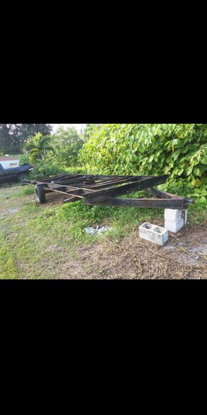 Trailer 28 ft dual axle trailer tiny house frame camper travel trailer for Sale in Pembroke Pines, FL