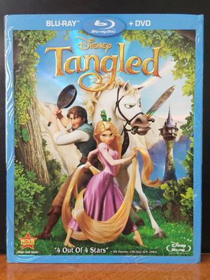 Tangled Disney Animated Blu-Ray + DVD Family Kids Movie for Sale in Tampa, FL