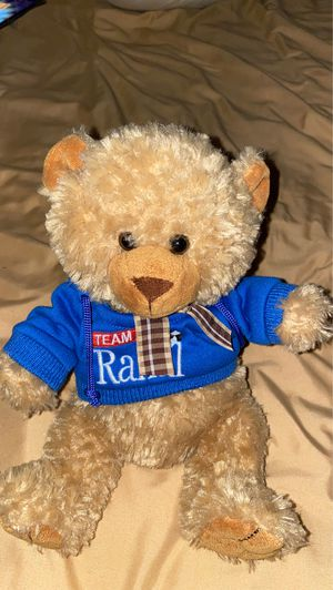 "The Petting Zoo Teddy Bear 9"" Plush Brown Bow Blue Hoodie Team Rahal Sweatshirt for Sale in Aliquippa, PA"
