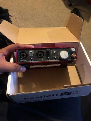 Focusrite scarlett 2i2 usb recording interface for Sale in Fort Washington, MD