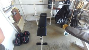 Bench Press: 2 bars, 100 lbs for Sale in Elk Grove, CA