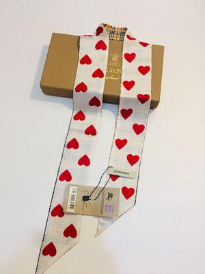 BURBERRY SKINNY HEART SILK SCARF for Sale in Goodyear, AZ