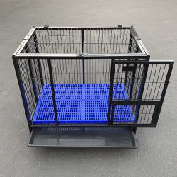 """New in Box $130 Heavy-Duty Dog Cage 37x25x33"""" Single-Door Folding Crate Kennel with Plastic Floor & Tray for Sale in Santa Fe Springs,  CA"""