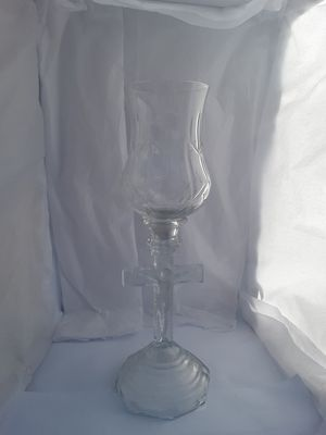 Jesus on the Cross Glass Candle holder for Sale in Pensacola, FL