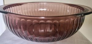 Vintage Pyrex Round Ribbed Casserole Dish Amethyst/Cranberry for Sale in New Port Richey, FL