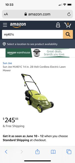 Mj401c 14 in. 28-Volt Cordless Walk Behind Push Mower Kit with 4.0 Ah Battery + Charger for Sale in Fort Belvoir, VA
