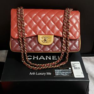 Chanel Tricolor Classic Jumbo Double Flap Bag for Sale in Santa Ana, CA