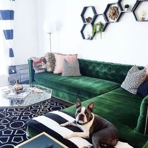 Emerald Green Modshop Tufted Sectional for Sale in Newport Beach, CA