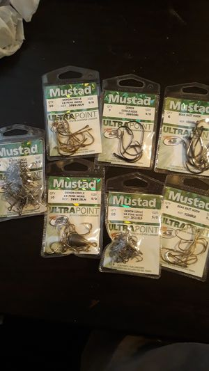 Mustad fishing hooks for Sale in Pasadena, TX