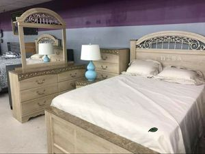 $39 DOWN❗BEST Deal 🛬 Catalina Antique White Sleigh Bedroom Set 106 for Sale in Jessup, MD