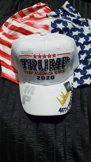 TRUMP WHITE CUSTOM SWOROVSKI BLING HAT for Sale in Phoenix, AZ