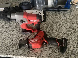 Milwaukee Fuel Hackzall Rotary SDS Hammer Drill w 2 Batteries for Sale in Sacramento, CA