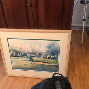 Golf Watercolor In Frame for Sale in Cincinnati, OH