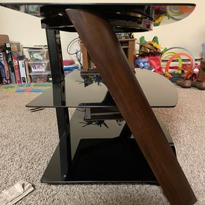 Glass tv Stand for Sale in Arvada, CO