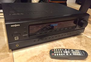Insignia Stereo Receiver/amplifier w/Remote & 2-speakers! for Sale in Miami, FL