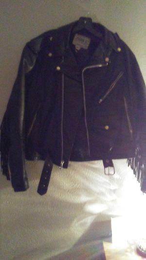 Ladies size 40 Genuine Leather Coat w/Fringe! for Sale in Washington, PA
