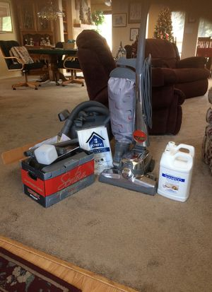 Kirby Sentria-excellent condition loaded with extras. 4 new bags and one and a half gallons shampoo for Sale in Pinetop, AZ