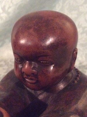 Beautiful Terra Cotta Or Earthenware Buddha Signed for Sale in Bauxite, AR