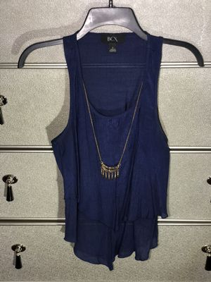 BCX Blue Top with Necklace for Sale in Oak Lawn, IL