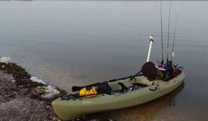 New!! Boat, kayak, fishing kayak, sit down 11 ft, 300 weight capacity fishing kayak , Light olive for Sale in Phoenix, AZ