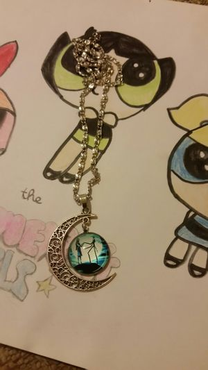 Nightmare Before Christmas Necklace in Excellent condition. NEVER WORN for Sale in Avondale, AZ