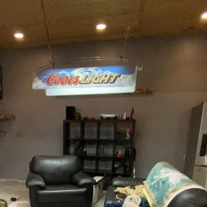 Coors Light Beer Hanging Pool Table Light for Sale in Riverside, CA
